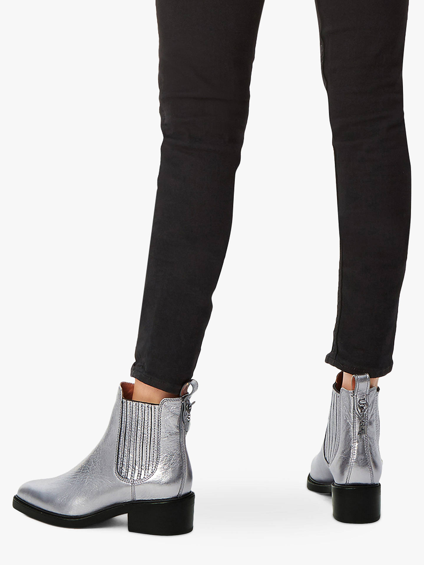 5da4bc98c Buy Coach Bowery Chelsea Block Heel Ankle Boots, Silver, 2 Online at  johnlewis.