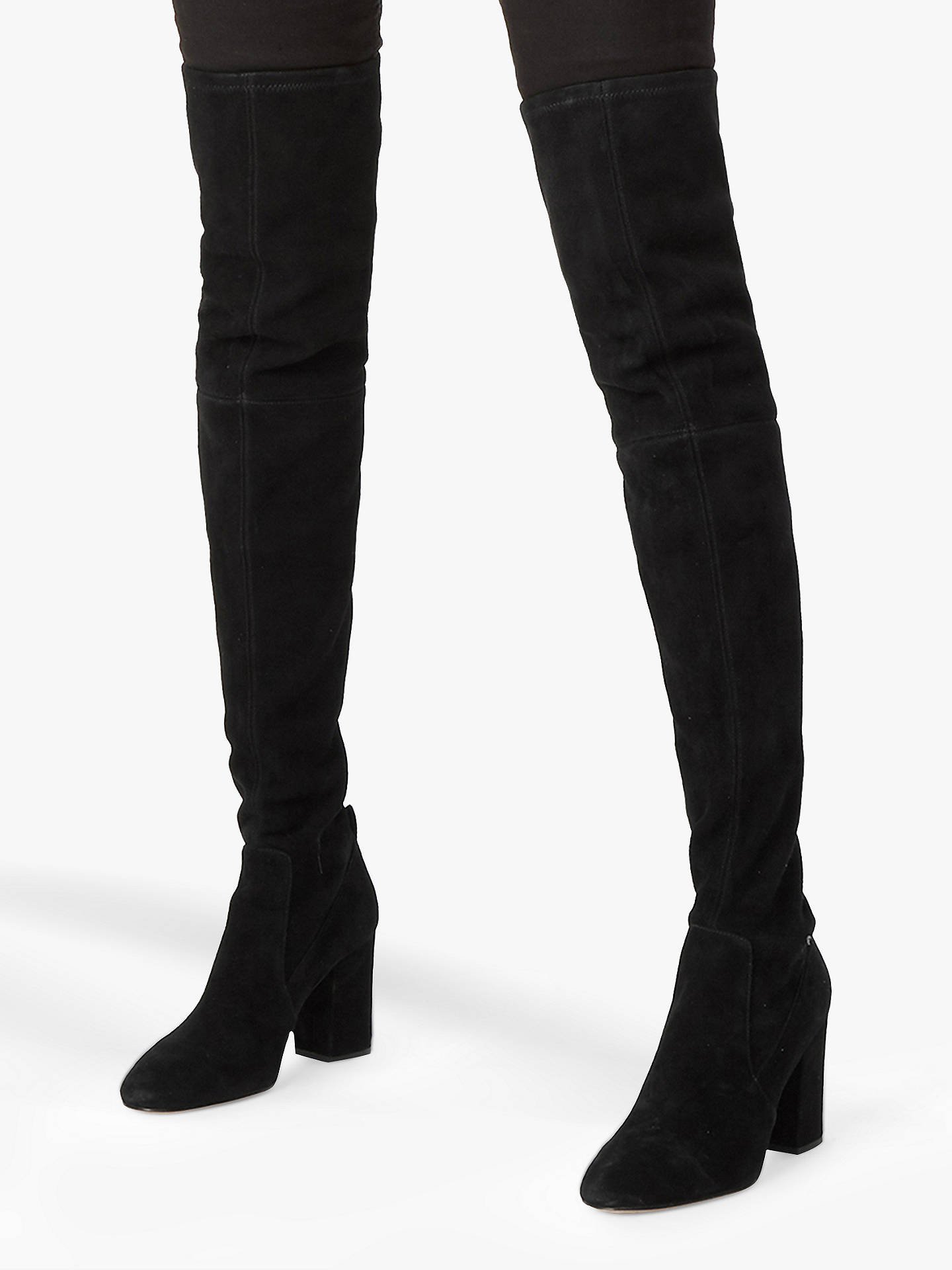 254d900fa4e5 ... Buy Coach Giselle Pull On Over The Knee Boots, Black Suede, 2 Online at  ...