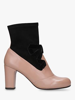 Chie Mihara Kisa Block Heel Ankle Boots, Nude Leather