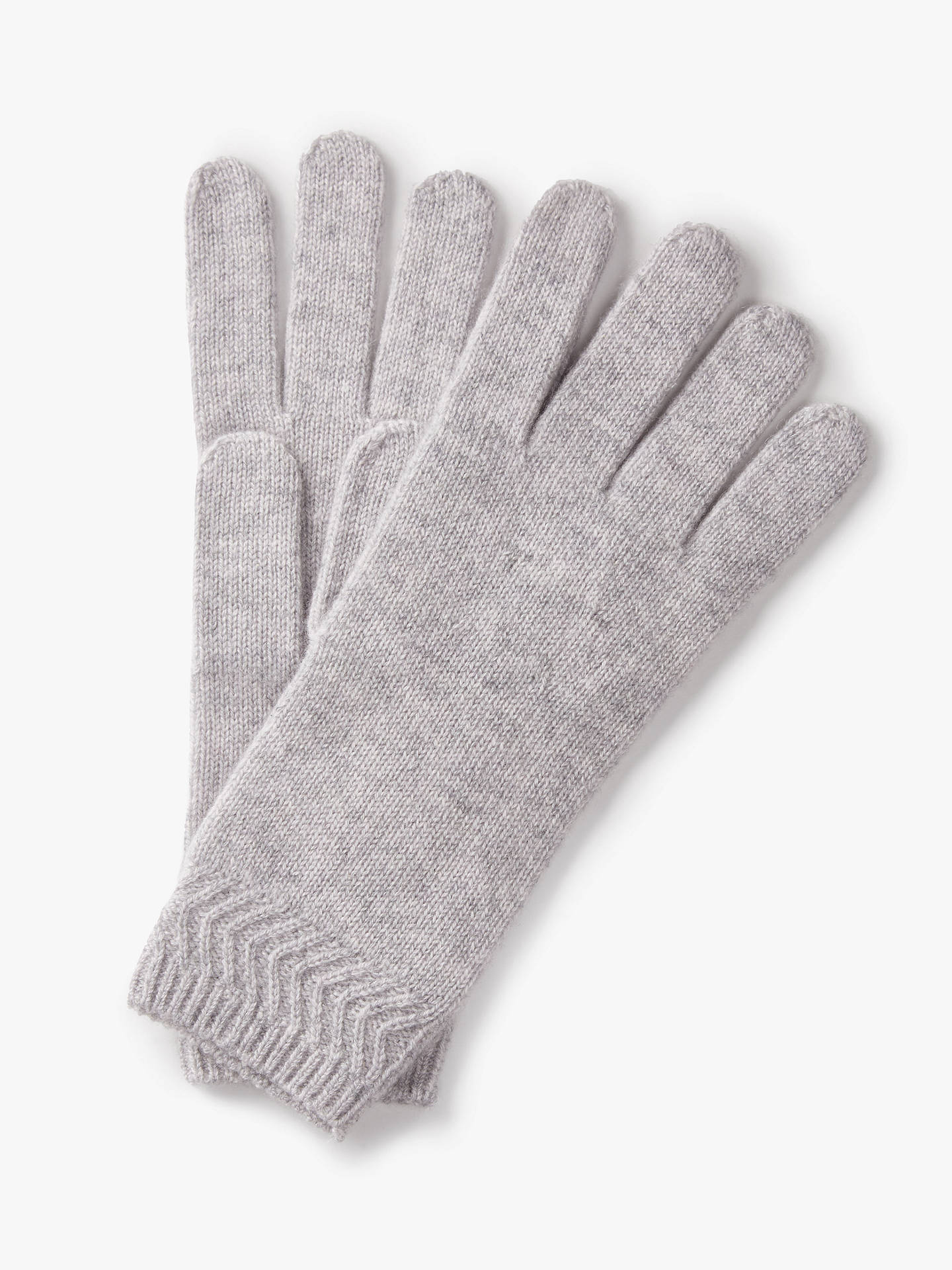 Buy Pure Collection Cashmere Gloves, Light Grey, One Size Online at johnlewis.com