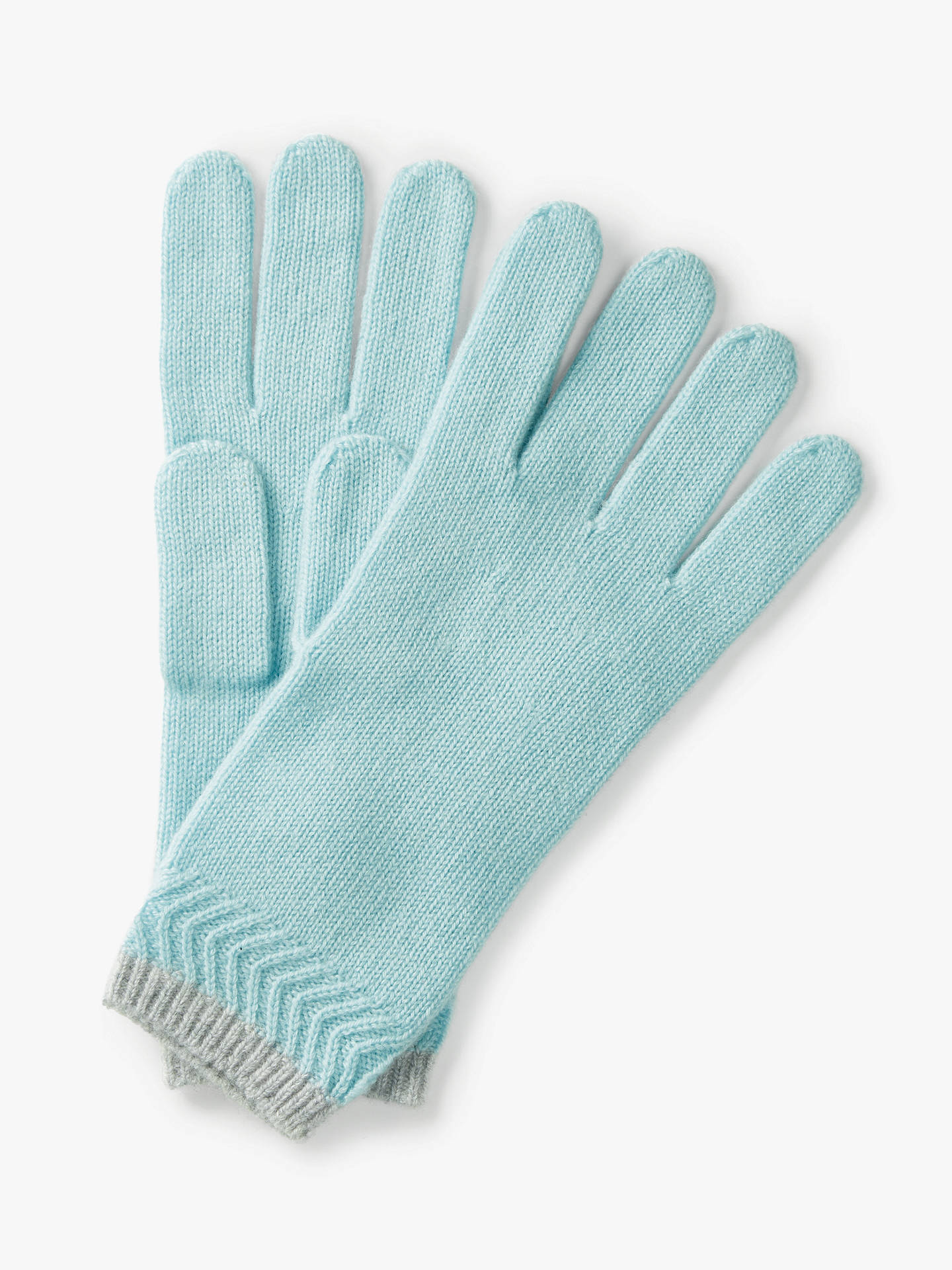 BuyPure Collection Cashmere Gloves, Light Blue, One Size Online at johnlewis.com
