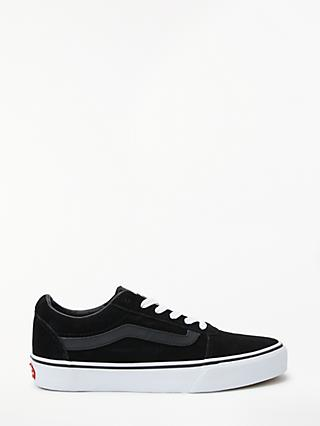 Vans Ward Lace Up Trainers, Black Suede