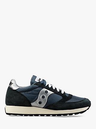 Saucony Jazz Original Vintage Women's Trainers, Blue/Navy/Silver