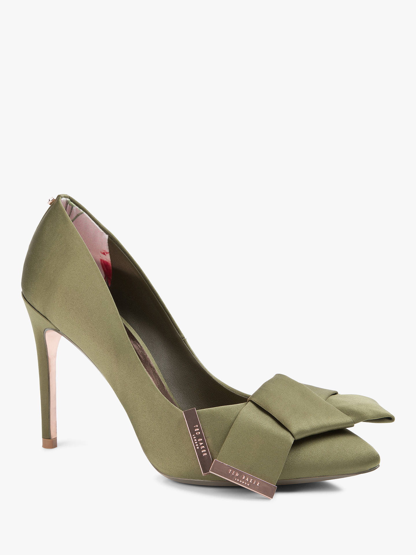 dca892987 Ted Baker Ines Stiletto Heel Bow Detail Court Shoes at John Lewis ...
