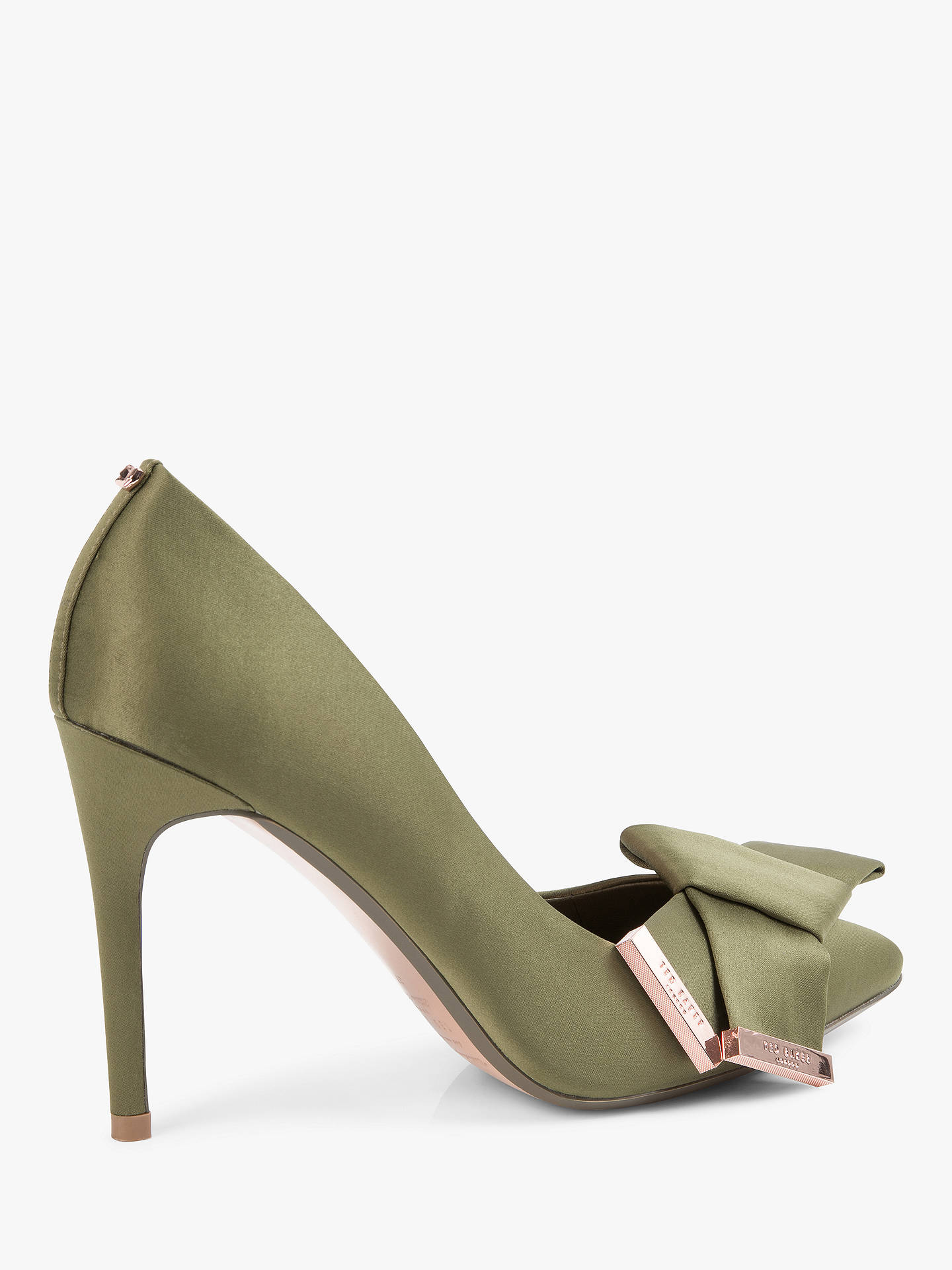 1a8d25ac86d Ted Baker Ines Stiletto Heel Bow Detail Court Shoes at John Lewis ...