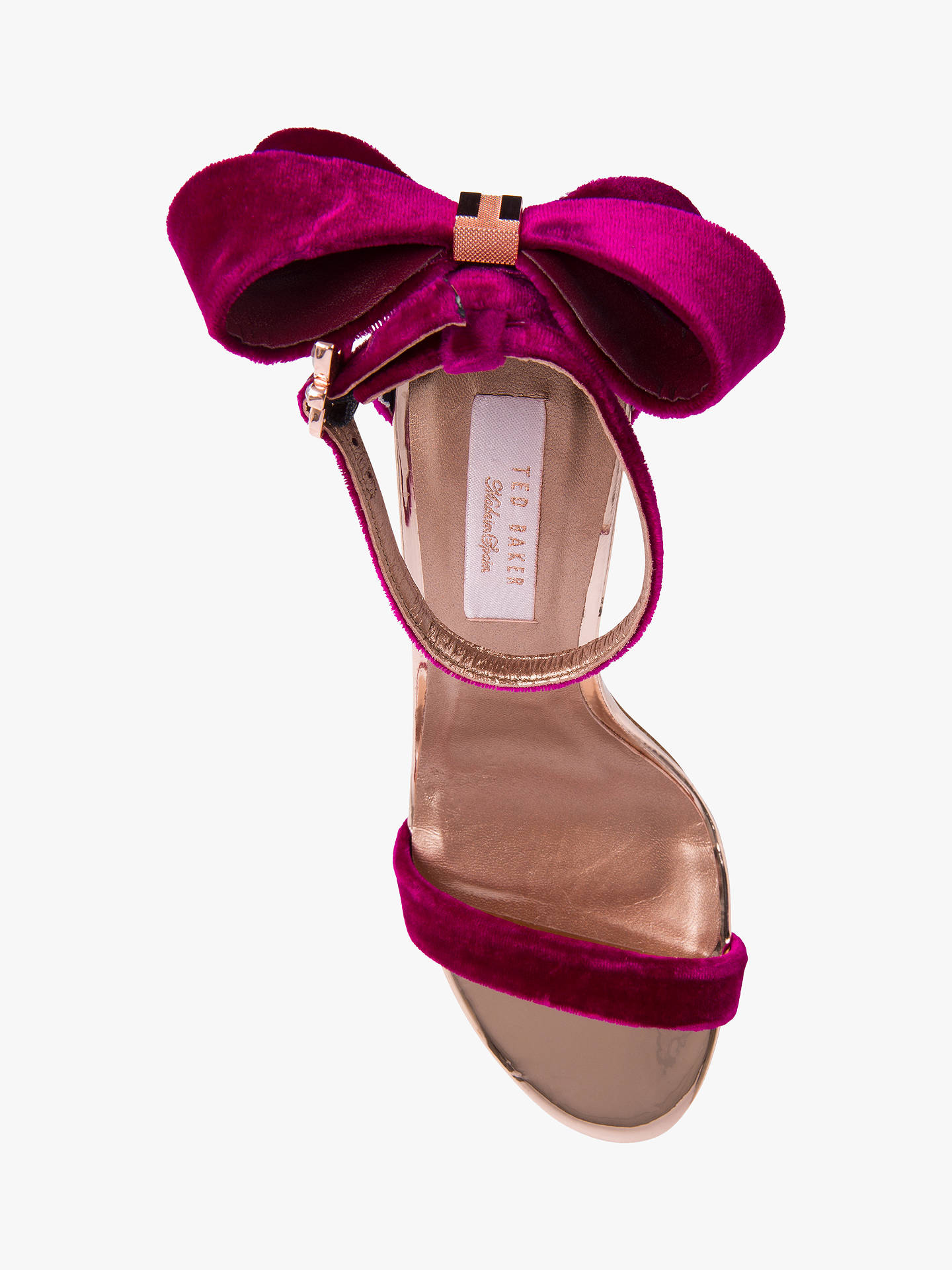 BuyTed Baker Sandalo Stiletto Heel Sandals, Purple Mid, 3 Online at johnlewis.com