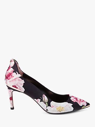 Ted Baker Viyxinp Stiletto Heel Court Shoes, Black/Multi