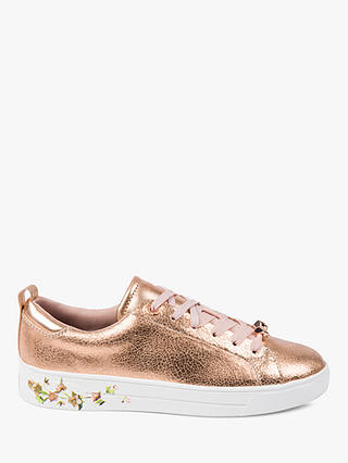 Buy Ted Baker Luocia Cupsole Trainers, Rose Gold, 3 Online at johnlewis.com