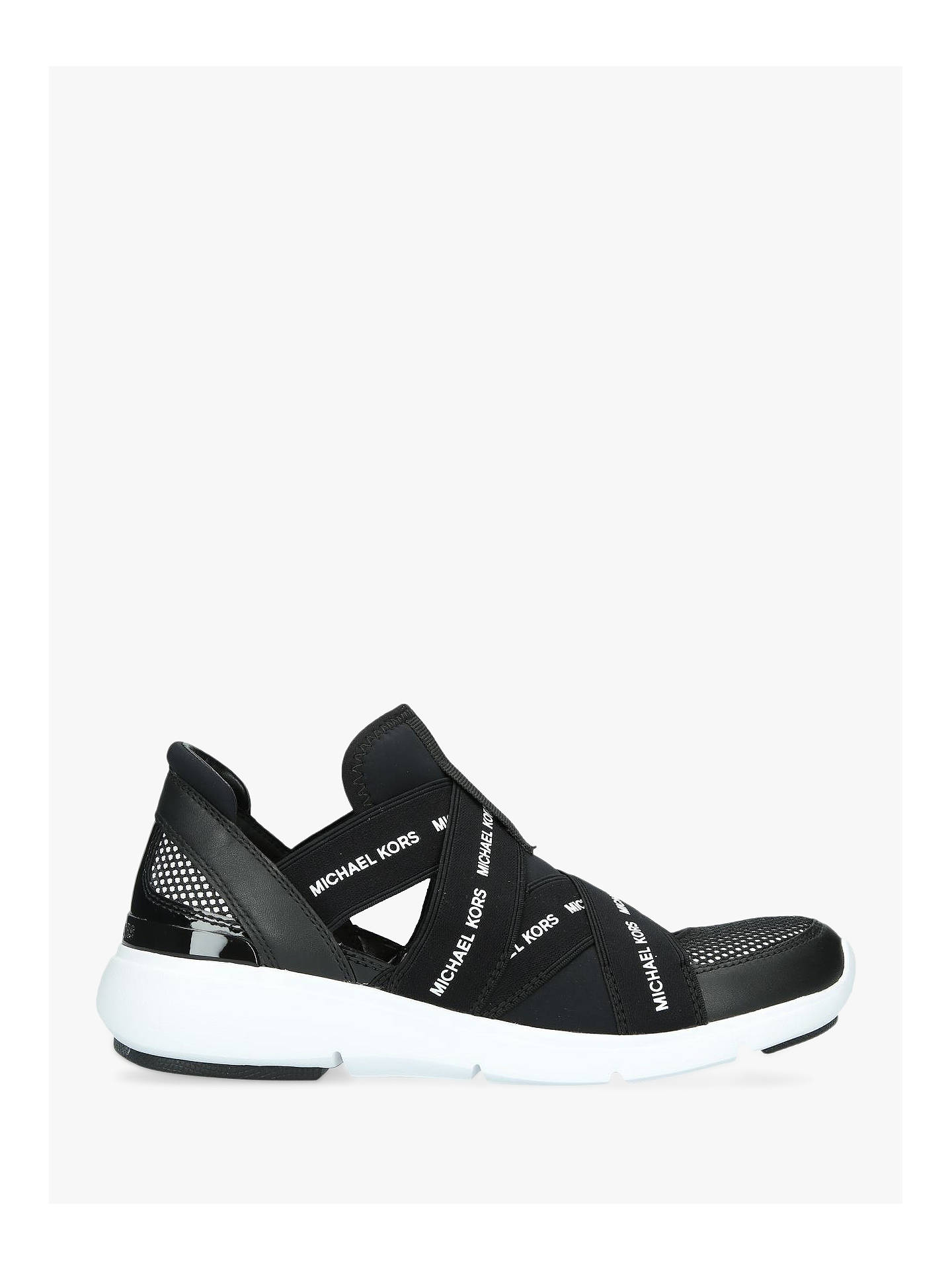 MICHAEL Michael Kors Sully Slip-On Trainers, Black at John Lewis ...
