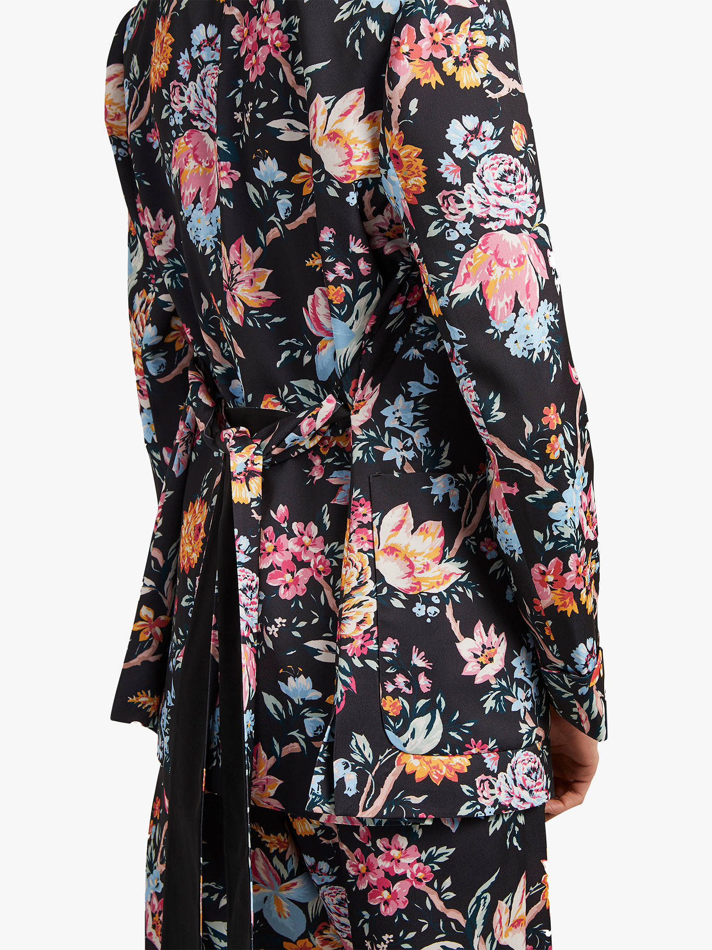 Buy French Connection Floral Satin Jacket, Multi/Black, 12 Online at johnlewis.com