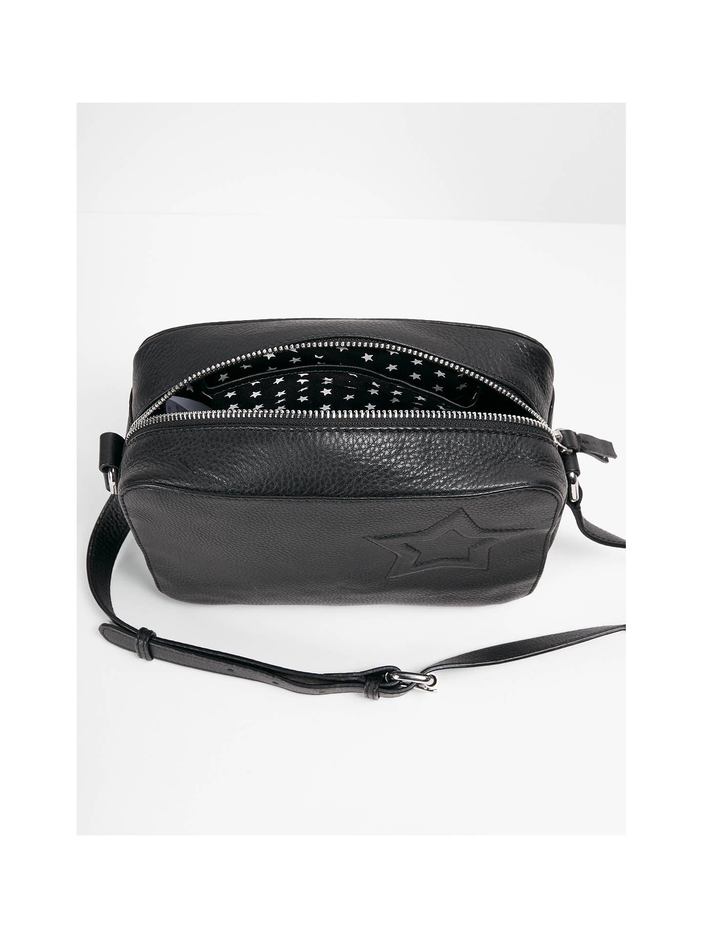 Hush Fifi Leather Cross Body Bag Black Online At Johnlewis