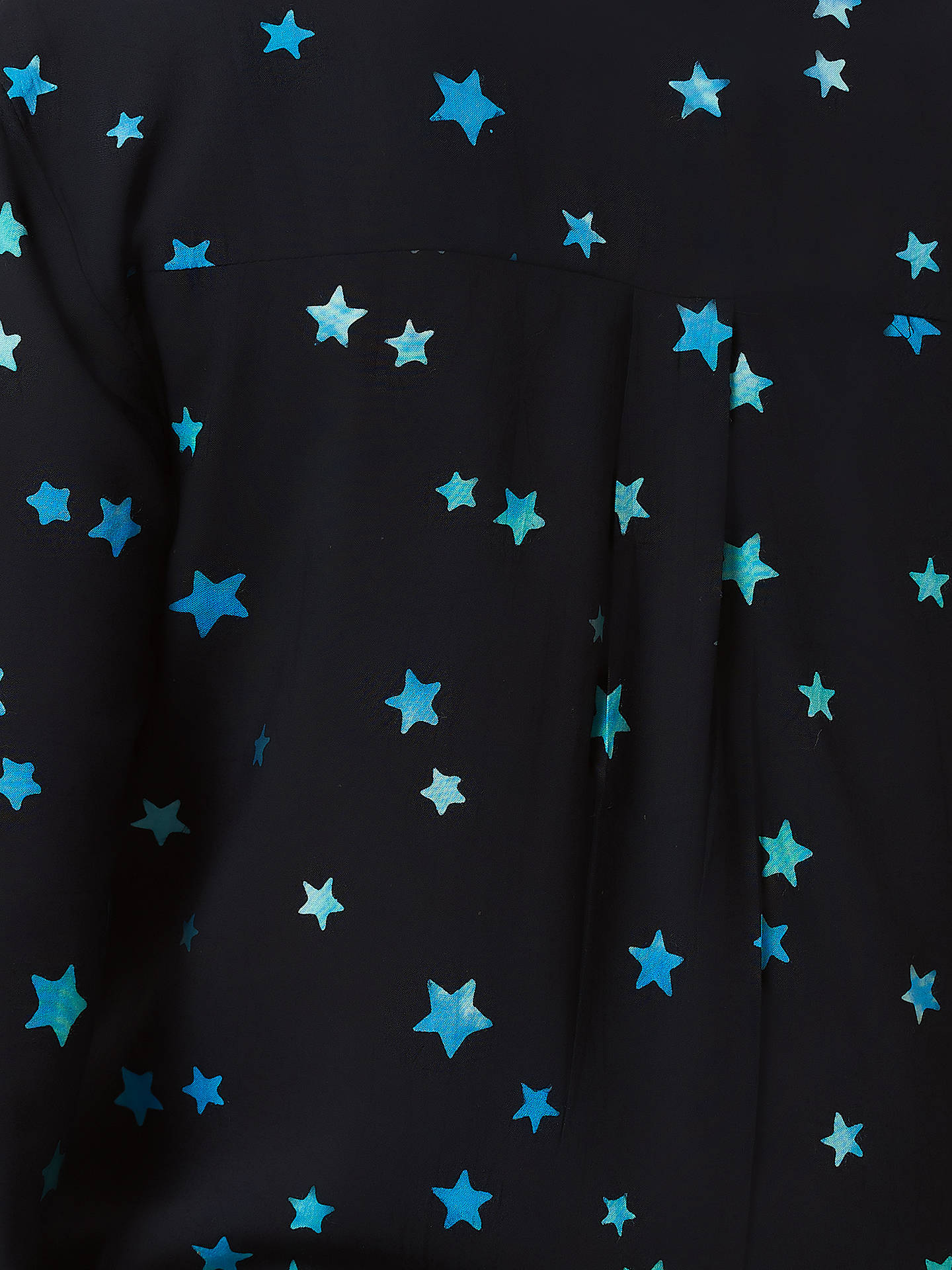 Buy Sugarhill Brighton Joy Star Batik Print Shirt, Black/Blue, 12 Online at johnlewis.com
