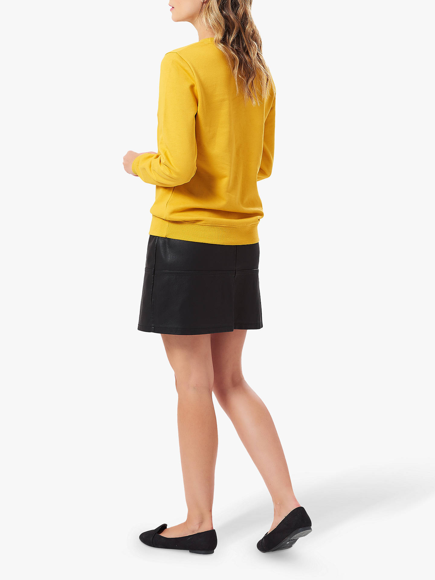 Buy Sugarhill Brighton Alanis Slogan Sweatshirt, Mustard, 8 Online at johnlewis.com