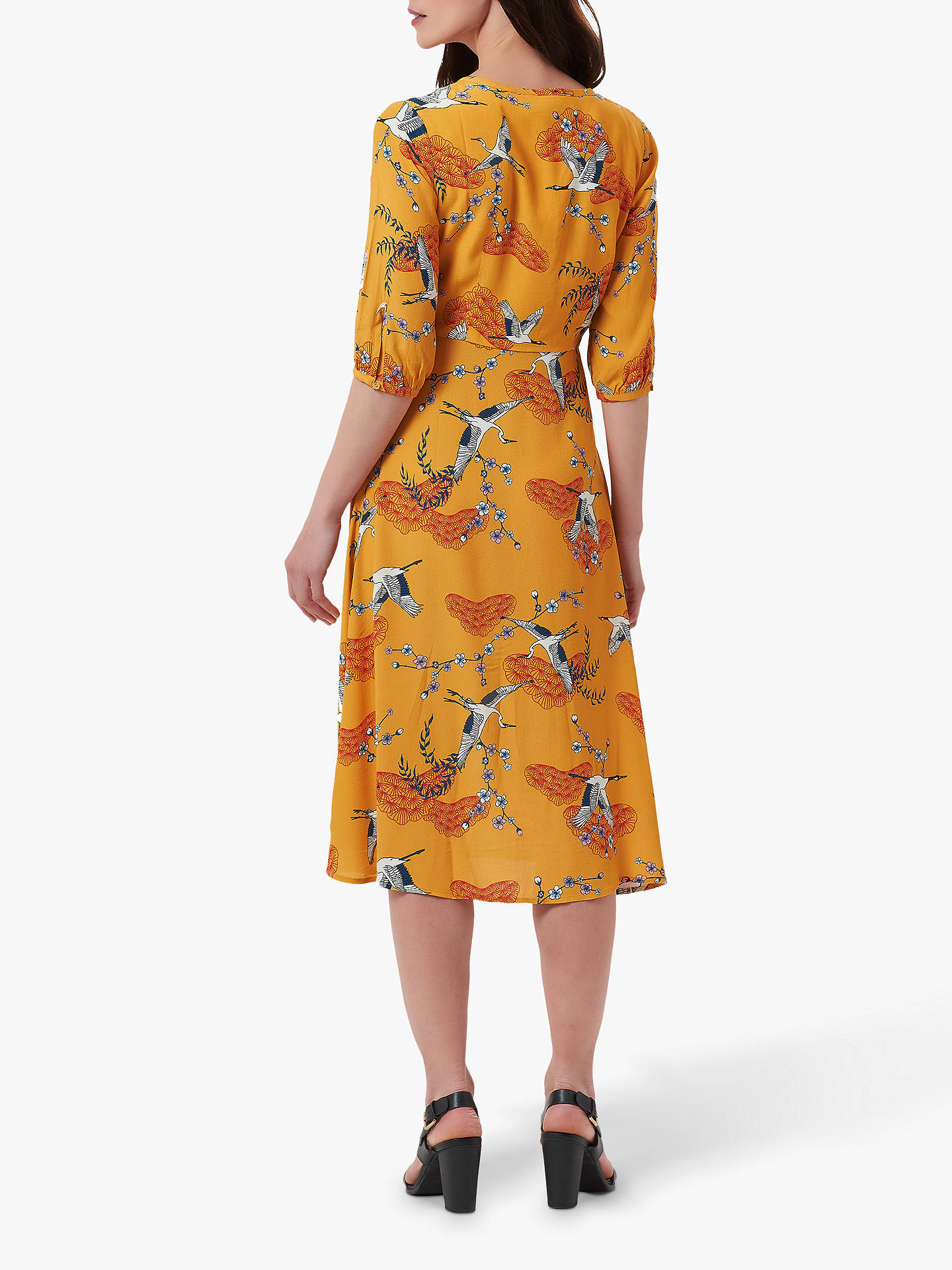 Buy Sugarhill Brighton Alice Midi Dress, Mustard, 10 Online at johnlewis.com