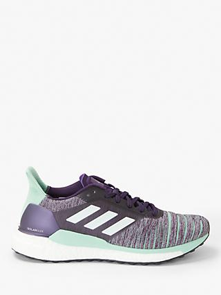 adidas Solar Glide Women's Running Shoes, Legend Purple/FTWR Whtie/Clear Mint