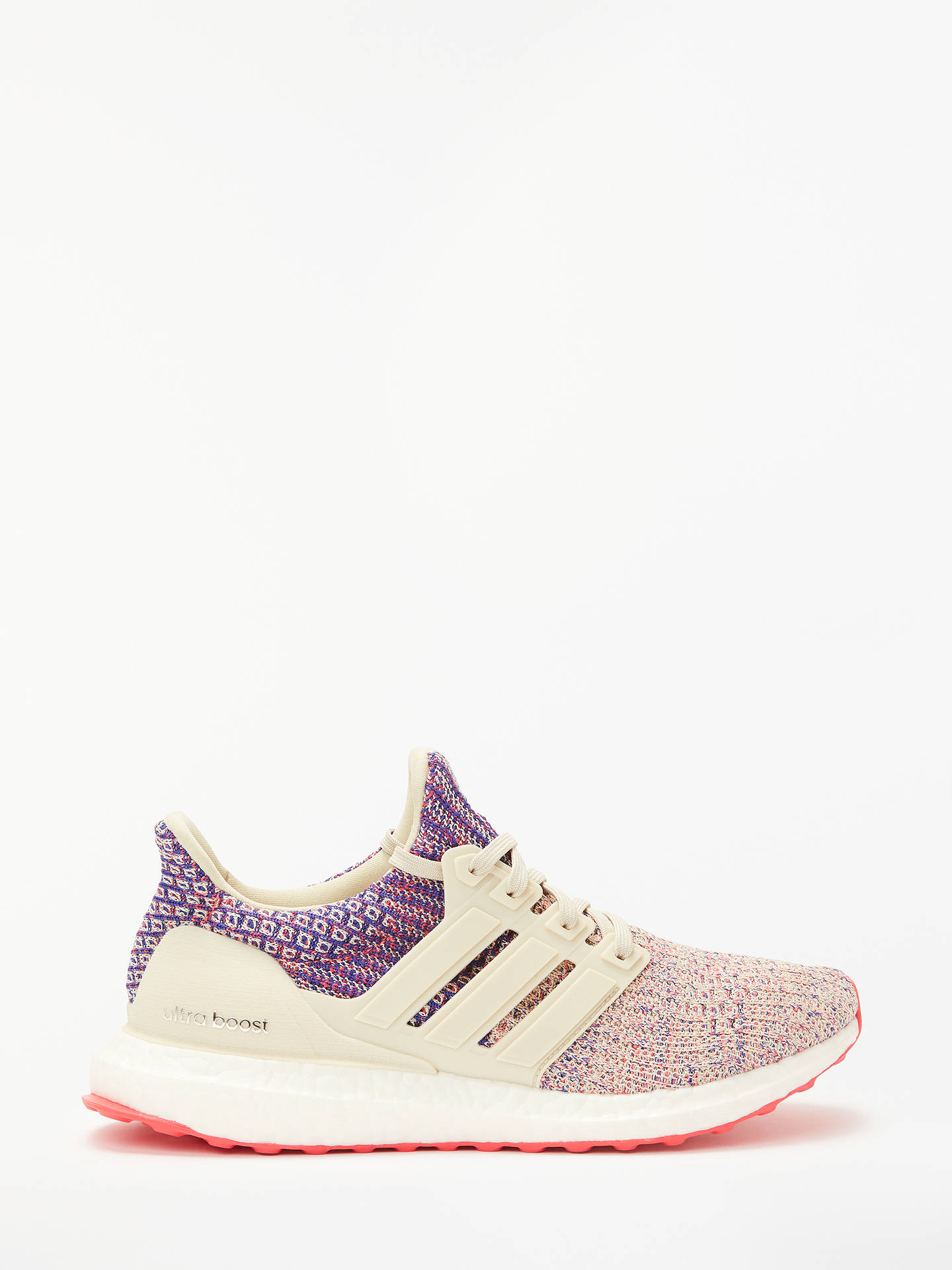 Buy adidas UltraBOOST Women's Running Shoes, Clear Brown/Shock Red/Active Blue, 4 Online at johnlewis.com