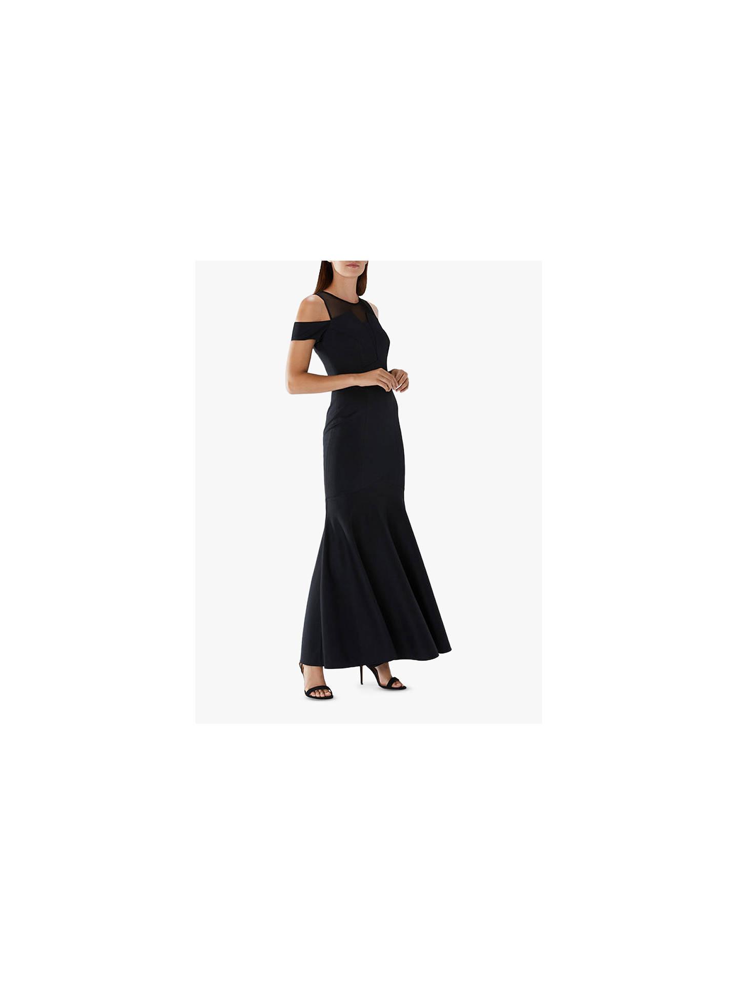 ac80b8c1a59f Buy Coast Lorna Fishtail Maxi Dress, Black, 6 Online at johnlewis.com ...