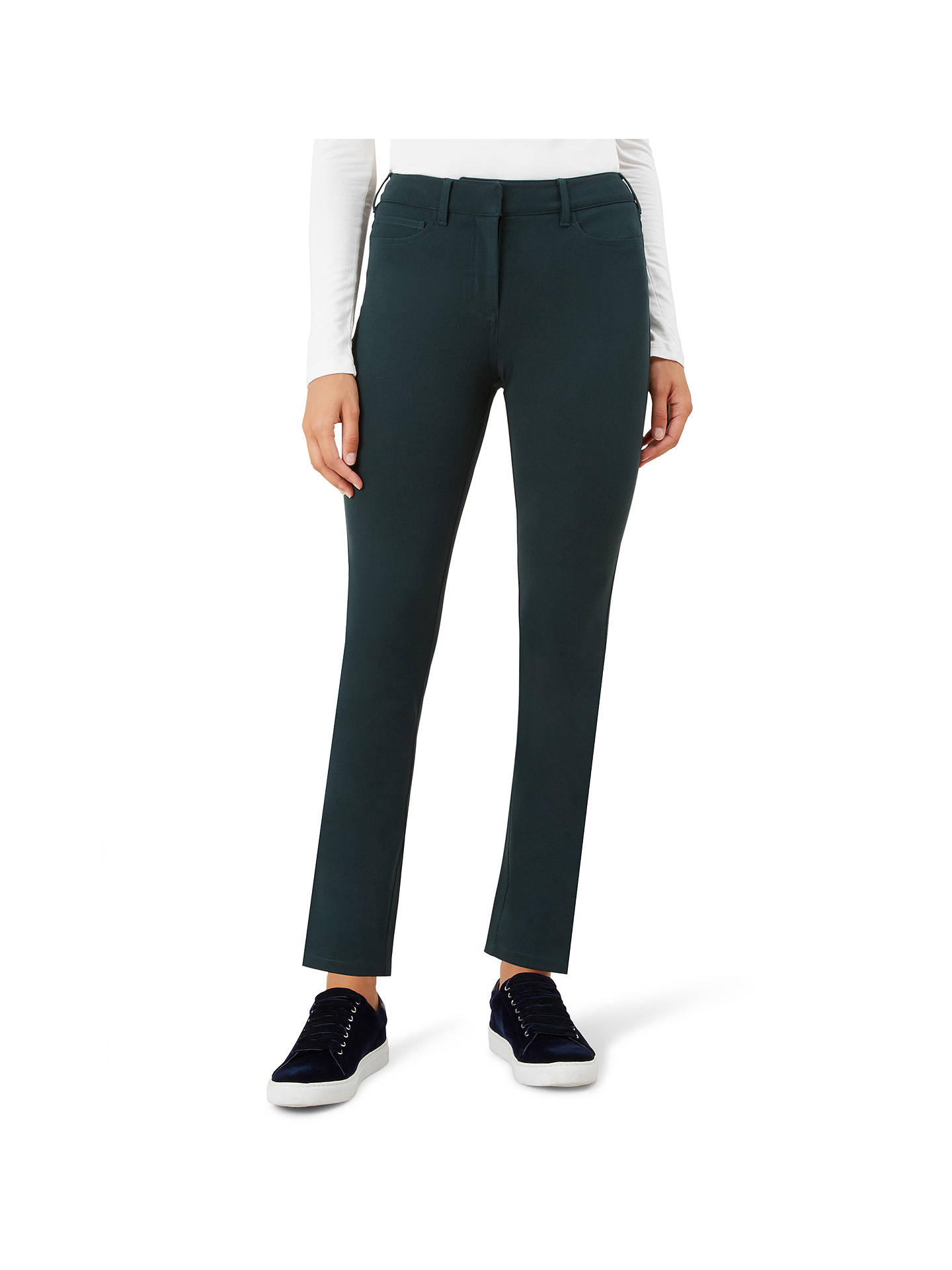 Buy Hobbs Regular Amanda Jeans, Forest Green, 6 Online at johnlewis.com