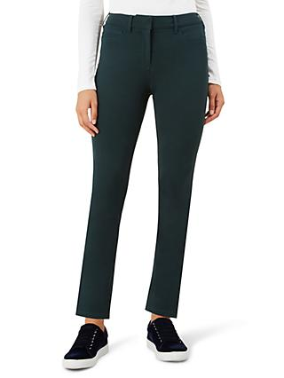 Hobbs Regular Amanda Jeans, Forest Green