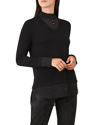 Hobbs Macy Knit Sweater, Black