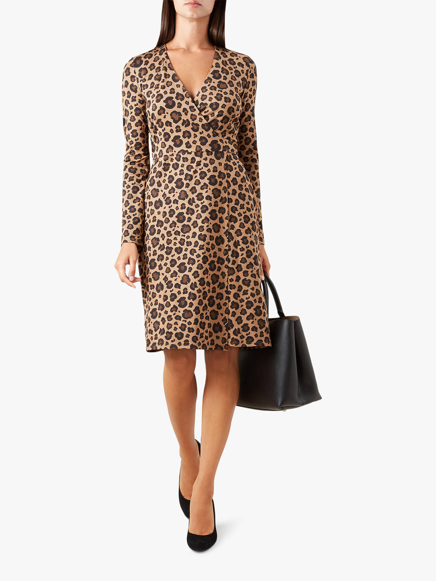 Buy Hobbs Delilah Wrap Animal Print Dress, Multi, 10 Online at johnlewis.com