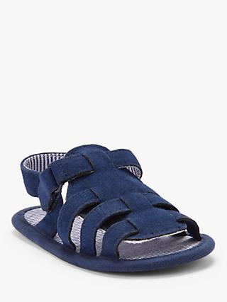 John Lewis & Partners Baby Fisherman Sandals, Blue