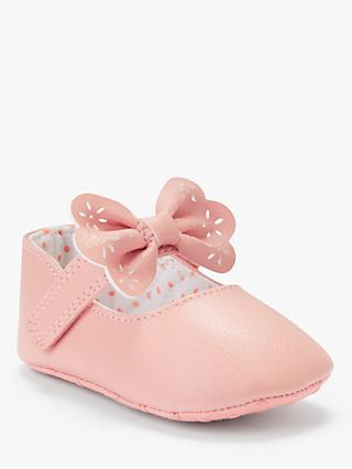 John Lewis & Partners Baby Bow T-Bar Shoes, Multi