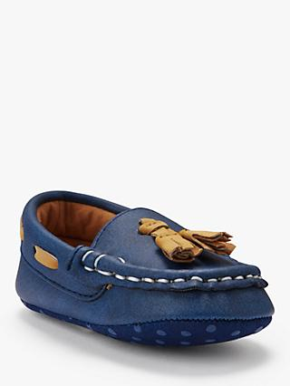 John Lewis & Partners Baby Loafers, Navy