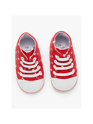 timeless design 251e8 94ad1 Buy John Lewis   Partners Baby Baseball Shoes, Red, 6-12 months Online
