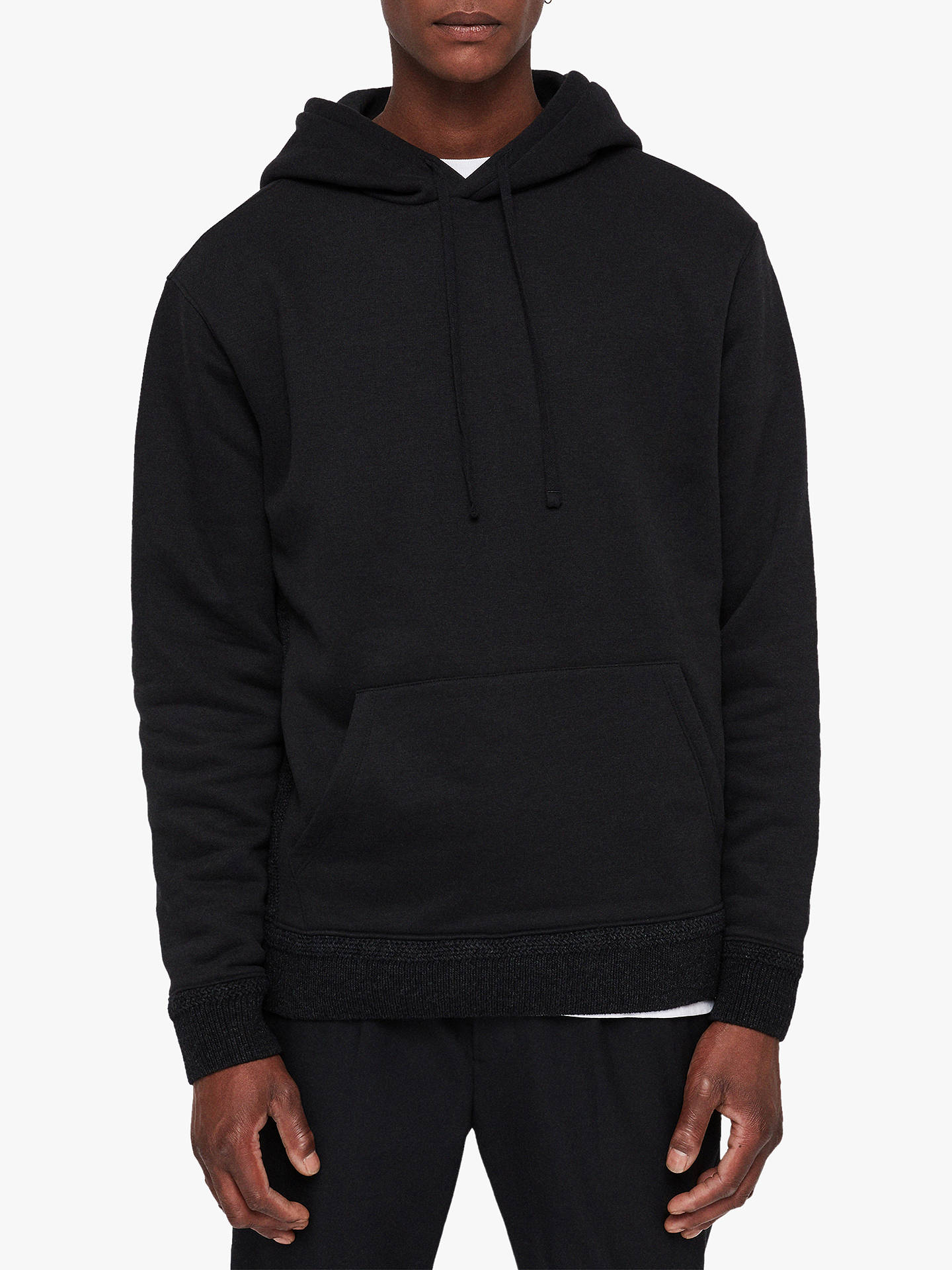 Buy AllSaints Senior Hoodie, Black, M Online at johnlewis.com
