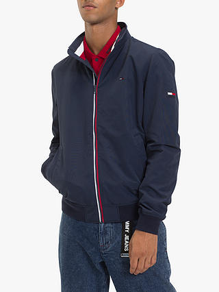 86ec14a5e Tommy Jeans Essential Casual Bomber Jacket, Black Iris at John Lewis ...