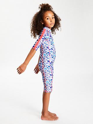 f3b07bb4c0 John Lewis & Partners Girls' Painted Heart Print UV SunPro Suit, ...