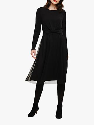 Phase Eight Talie Twist Dress, Charcoal