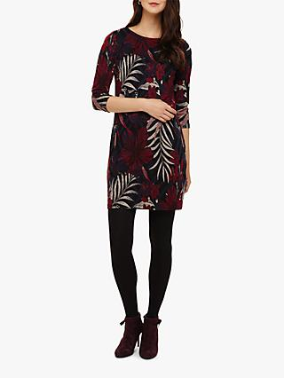 Phase Eight Pollie Palm Jacquard Tunic Dress, Multi
