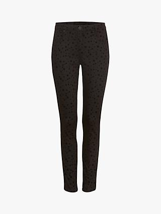 Phase Eight Aida Flocked Star Print Jeans, Black