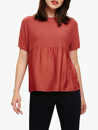 Phase Eight Woven Mix Blouse, Spice