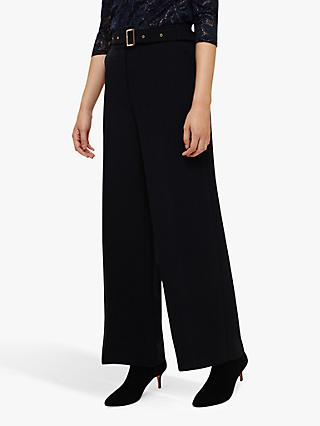 Phase Eight Ramono Wide Trousers, Navy
