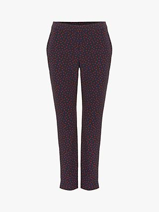 Phase Eight Orly Spot Trouser, Navy Multi