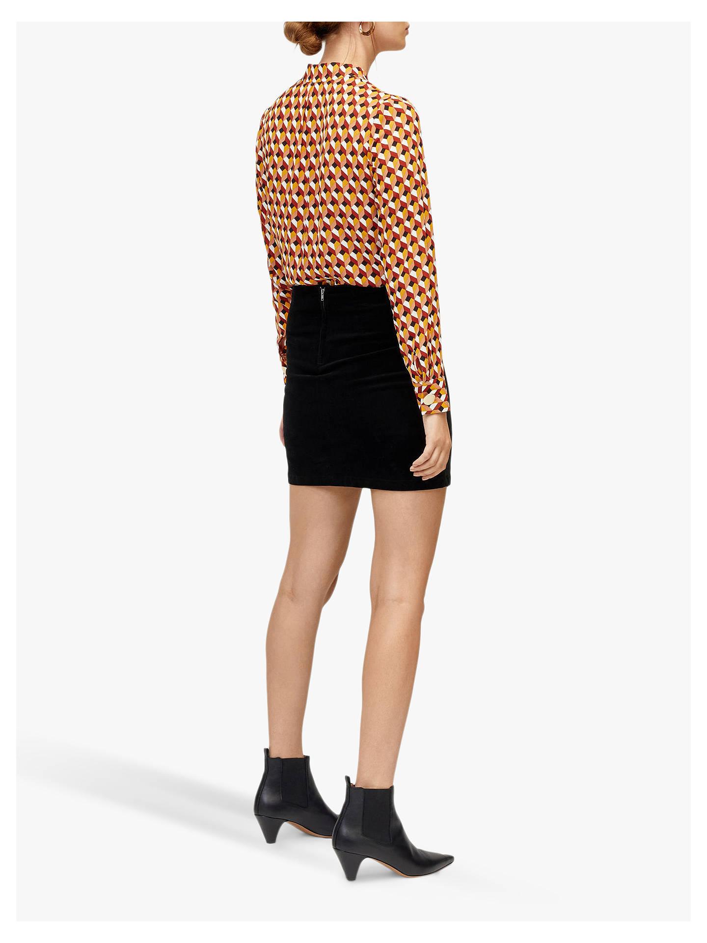 77f455d484e80d ... Buy Warehouse Velvet Mini Skirt, Black, 12 Online at johnlewis.com ...