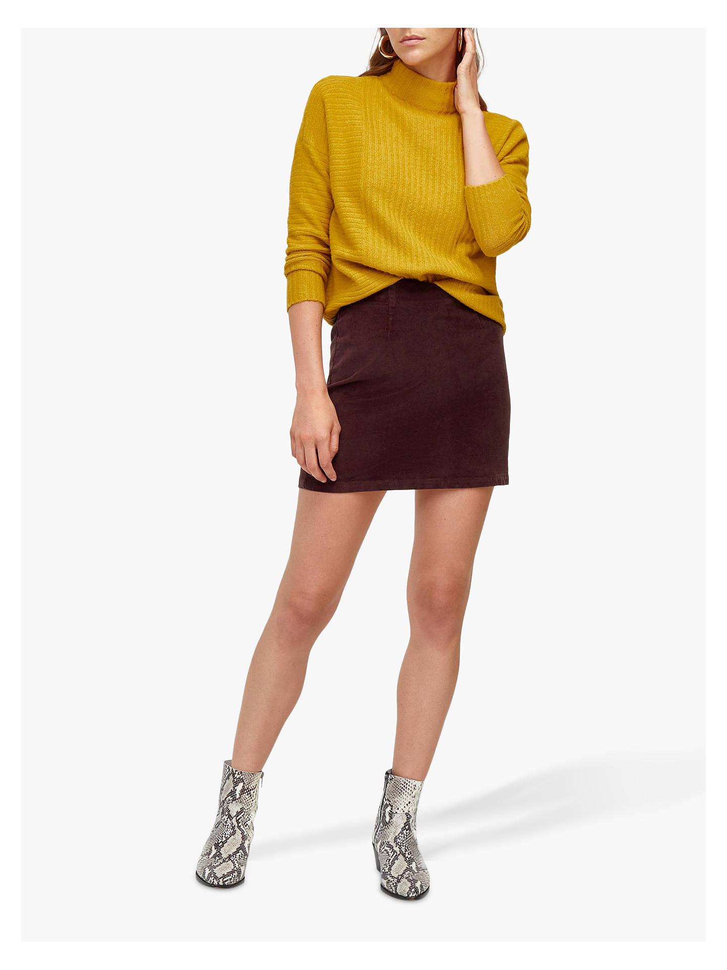 3a09b62c76f Buy Warehouse Velvet Mini Skirt