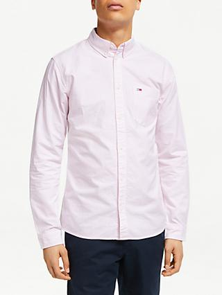 Tommy Jeans Essential Stripe Shirt, Oxford Pink