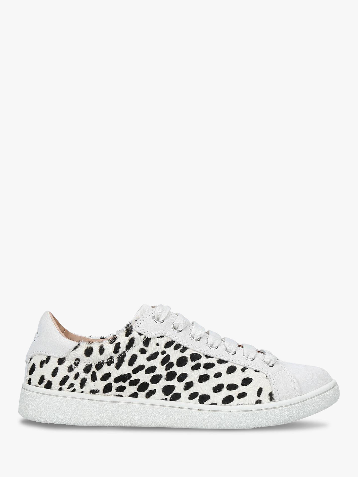 b844c10d46e UGG Milo Exotic Lace Up Trainers, White/Black Suede at John Lewis ...