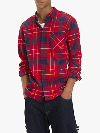 Tommy Jeans Flannel Check Shirt, Samba/Multi