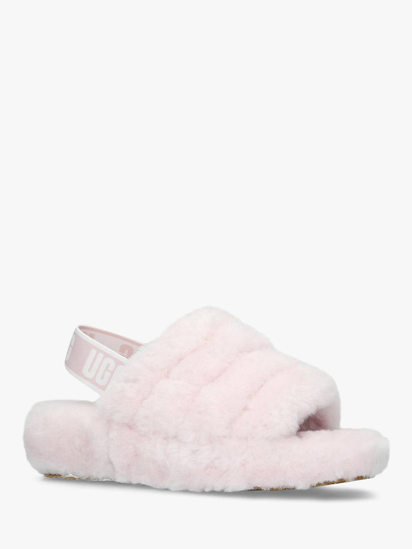751714723e4 UGG Fluff Yeah Sandals, Pink Sheepskin at John Lewis & Partners