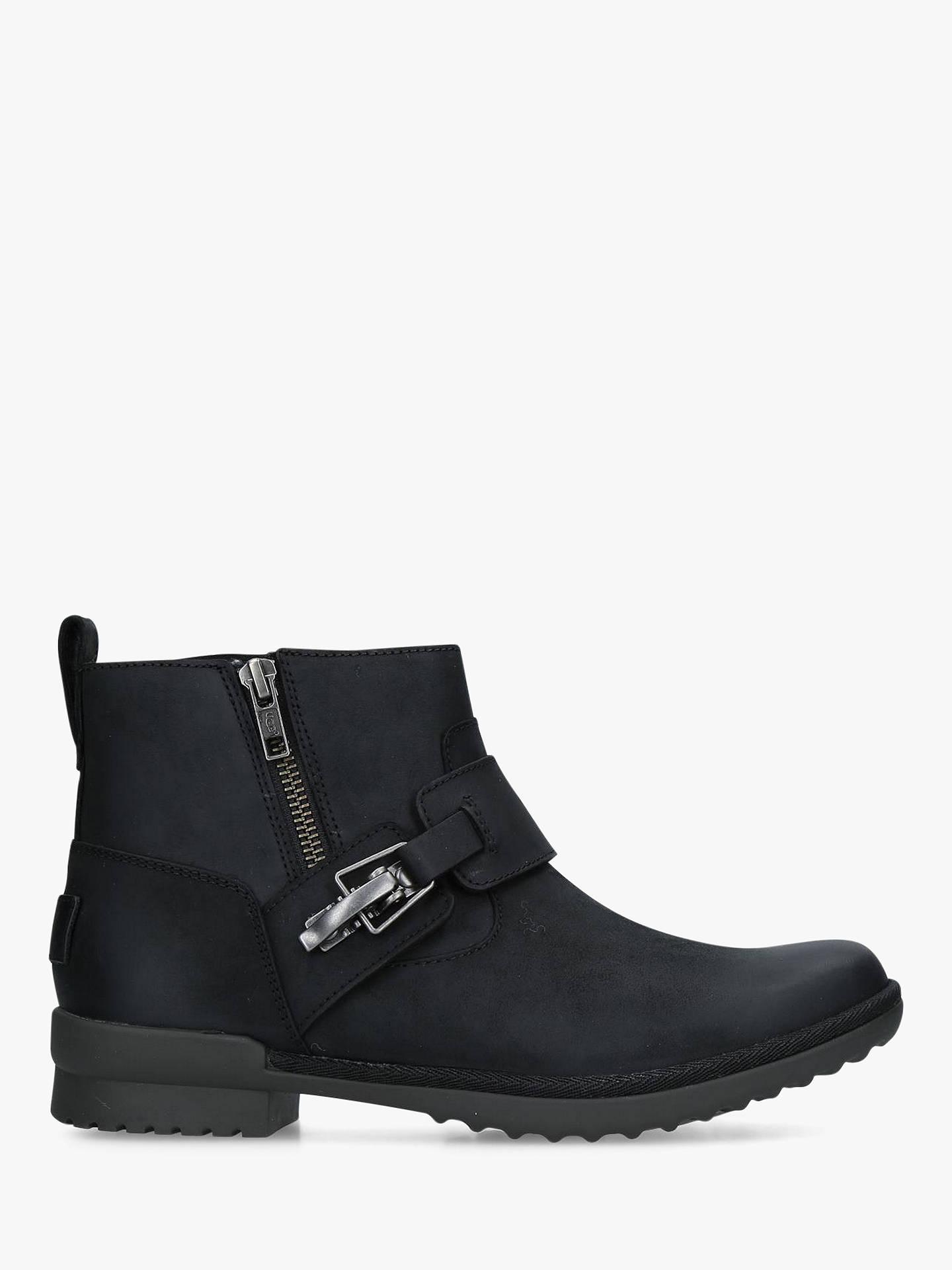 abf617d3b2e UGG Cheyne Waterproof Low Block Heel Ankle Boots at John Lewis ...