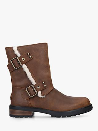 UGG Niels II Calf Boots, Mid Brown Leather