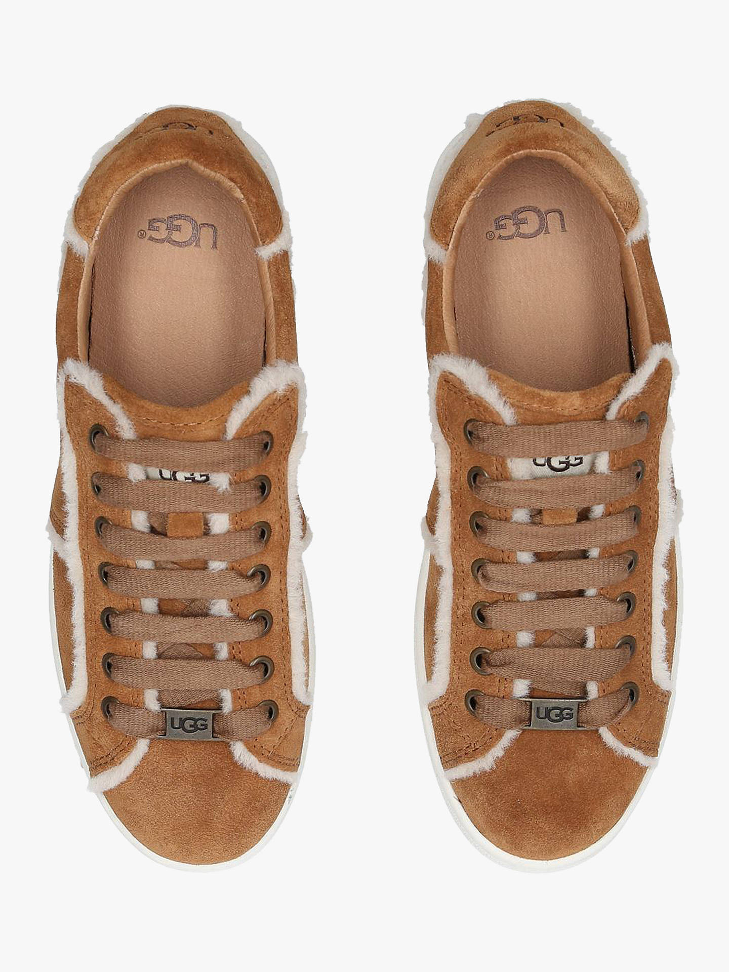 9f73098d173 UGG Milo Spill Seam Sneakers, Brown Dark at John Lewis & Partners