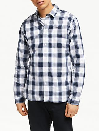 Tommy Jeans Long Sleeve Check Shirt, White/Multi
