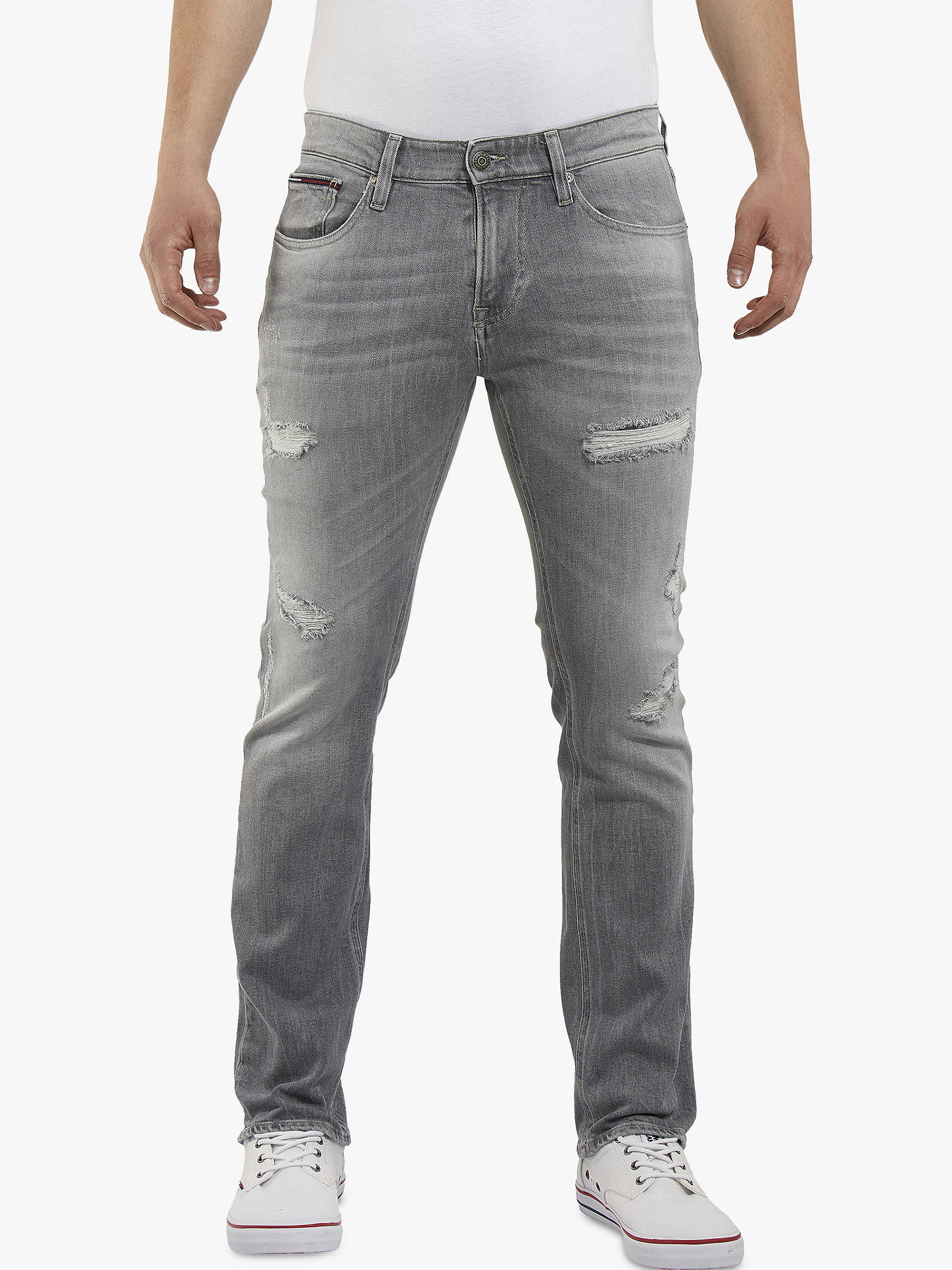 19e7539c Buy Tommy Jeans Slim Scanton Jeans, Ever Grey Distressed, 30R Online at  johnlewis.