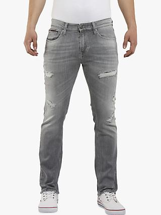 Tommy Jeans Slim Scanton Jeans, Ever Grey Distressed